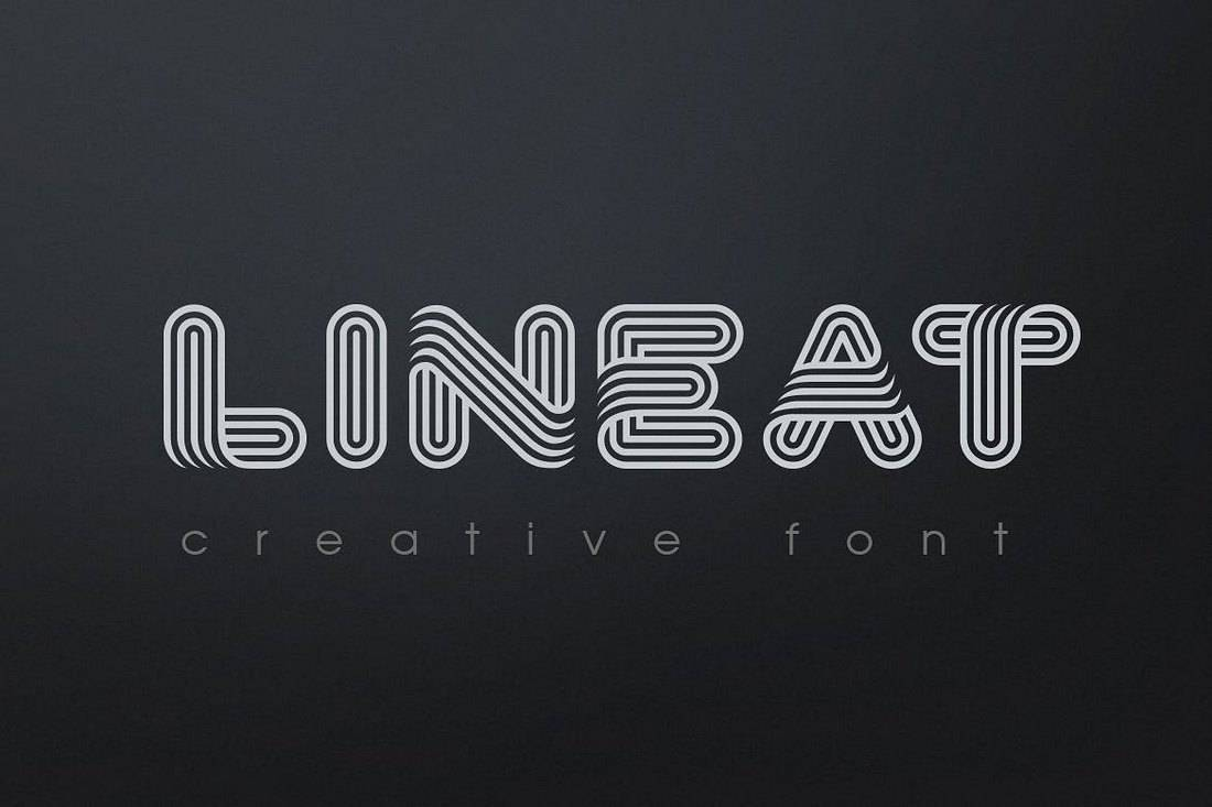 Lineat - Creative Font For Signs