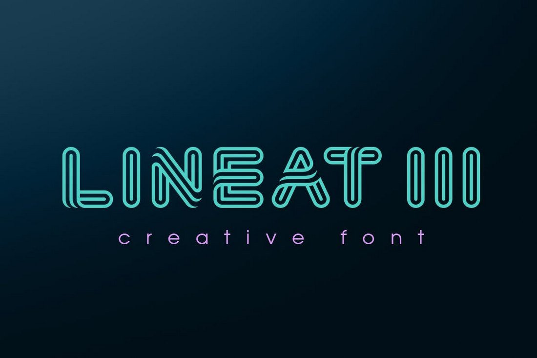Lineat III - Creative Font