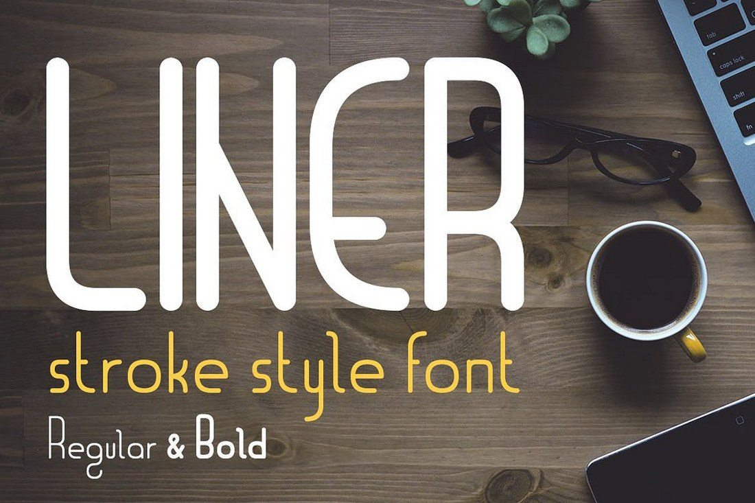 Liner-Logo-Font-with-Frames 30+ Best Fonts for Logo Design design tips