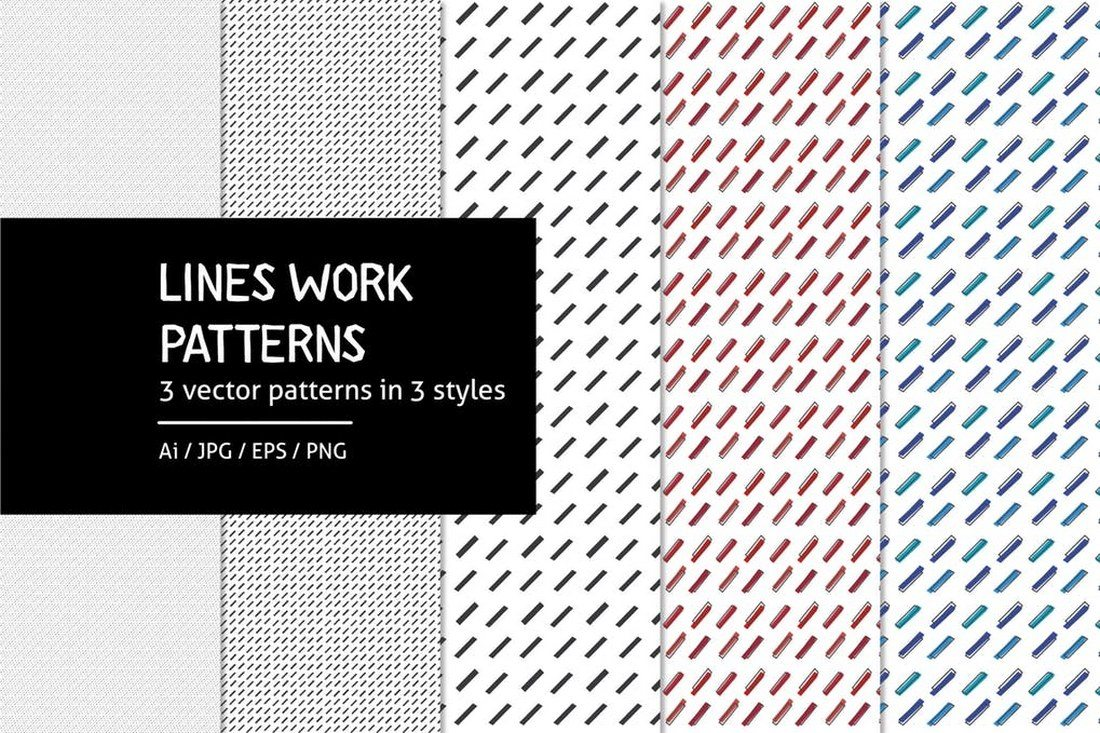 Lines-Work-Patterns 30+ Best Line Patterns & Textures design tips