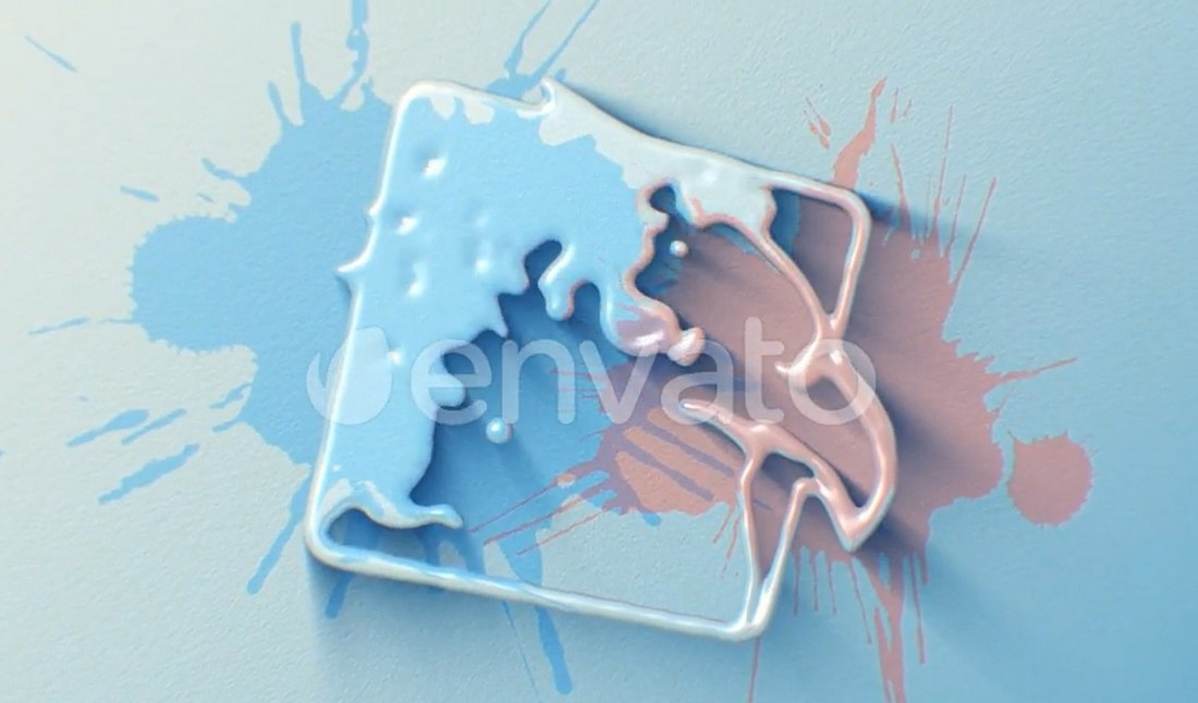 Liquid Rain After Effects Logo Reveal Template