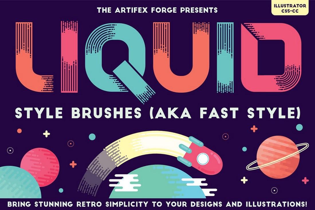 Liquid Style Illustrator Brushes