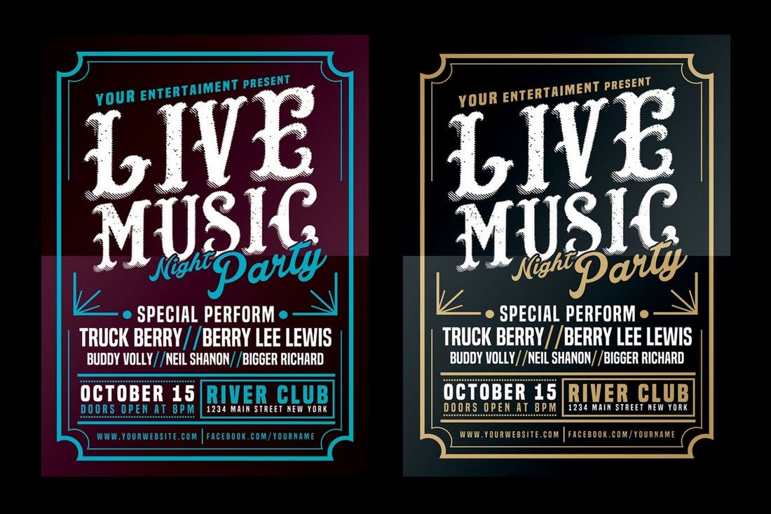 30 Best Music Amp Band Flyer Templates Design Shack