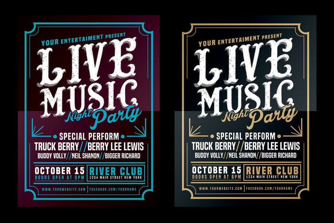 Live-Music-Typography-Poster Typographic Posters: 100 Stunning Examples design tips