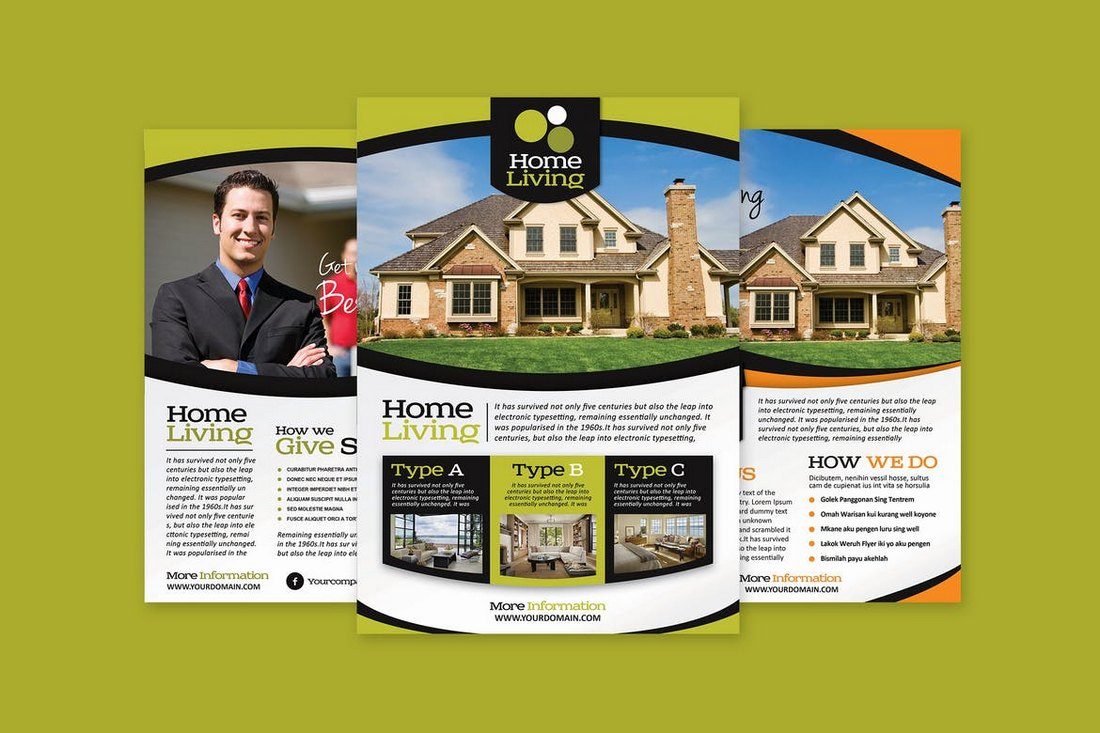 Living-Real-Estate-Flyer-Template 30+ Best Real Estate Flyer Templates design tips  Inspiration|flyer|property|real estate