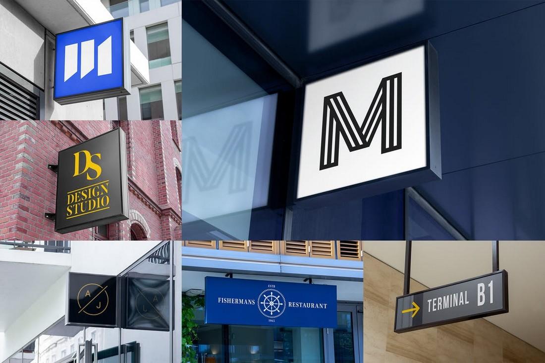 Logo-Hanging-Signage-Mockups 100+ Logo Mockup Templates (PSD & Vector) design tips