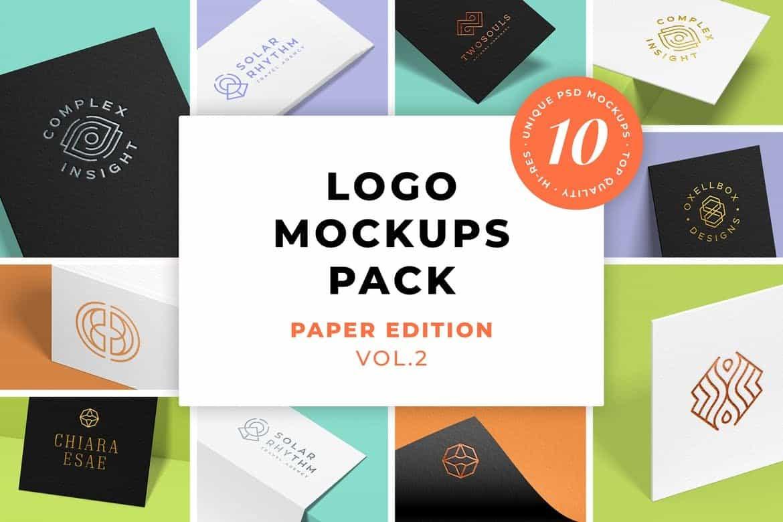 Logo Mockups Pack Paper Edition Vol 2