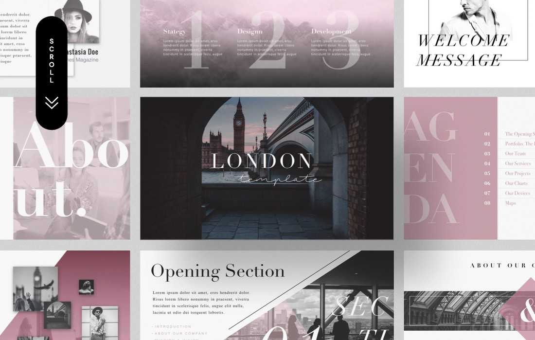 London - Free Minimal Keynote Template
