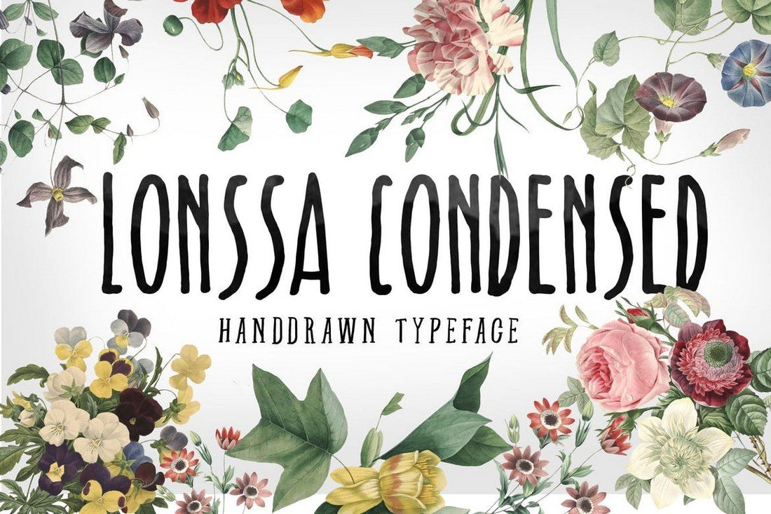 Lonssa-Condensed-Typeface 40+ Best Condensed & Narrow Fonts of 2019 design tips