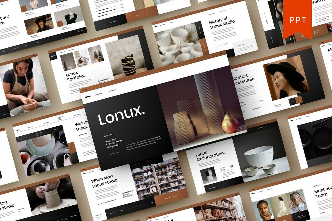 Lonux - Professional PowerPoint Template