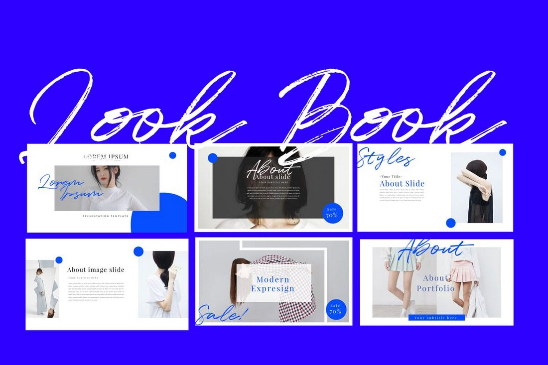 Look-Book-Keynote-Template 30+ Best Minimal & Creative Keynote Templates design tips