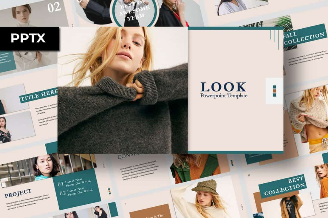 Look - Free Fashion PowerPoint Template