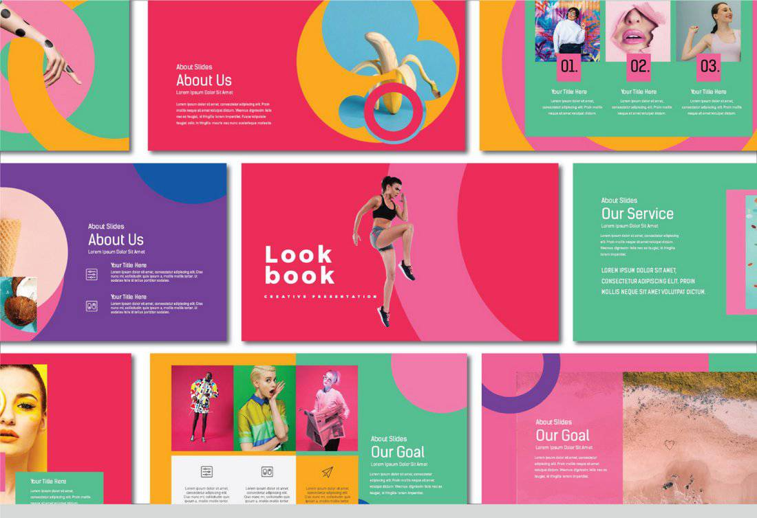 Lookbook - Colorful Free Keynote Template