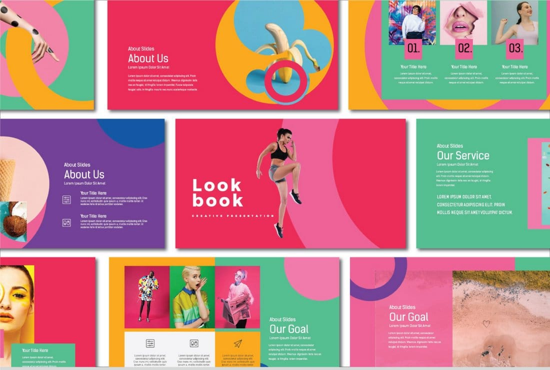 Lookbook - Free Pastel PowerPoint Template