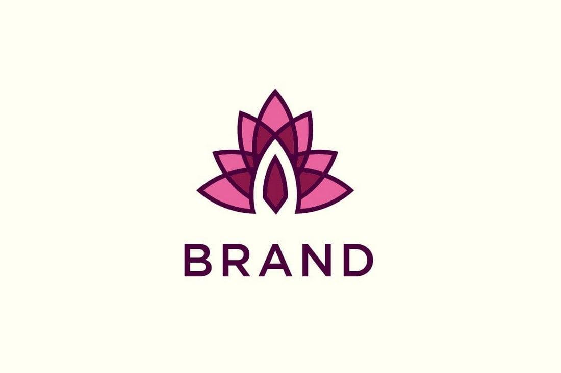 Lotus-Logo 50+ Best Minimal Logo Design Templates design tips