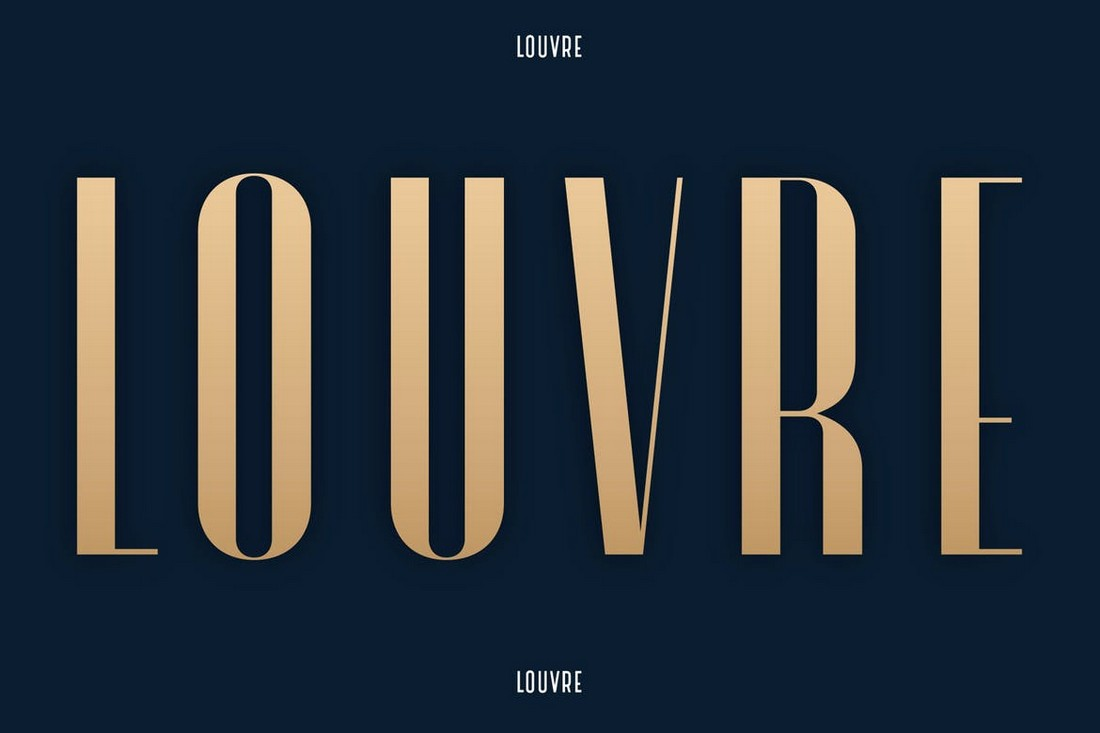 Louvre-Elegant-Condensed-Font 50+ Best Condensed & Narrow Fonts of 2020 design tips