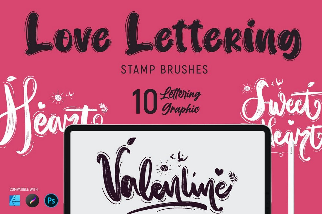 Love Lettering - Photoshop Stamp Brushes
