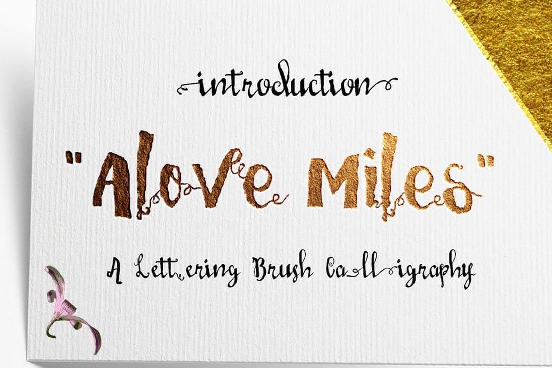 Love Mile - Wedding Invitation Font