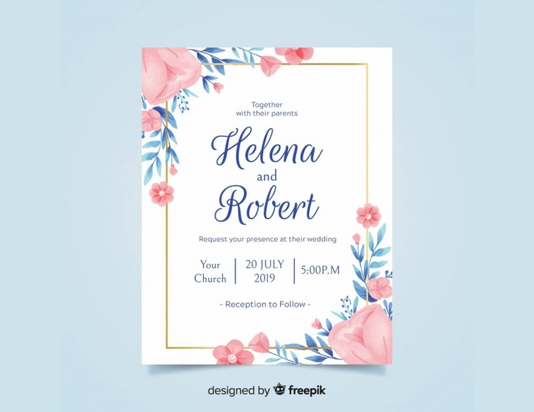 20+ Best Free Invitation Templates | Design Shack
