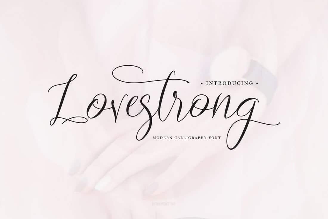 Lovestrong-Elegant-Script-Font 40+ Best Hand Lettering & Handwriting Fonts 2020 design tips  Inspiration|cursive|script