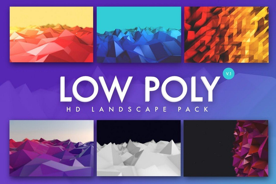 Low-Poly-Landscapes-Backgrounds 20+ Beautiful Geometric & Polygon Background Textures design tips
