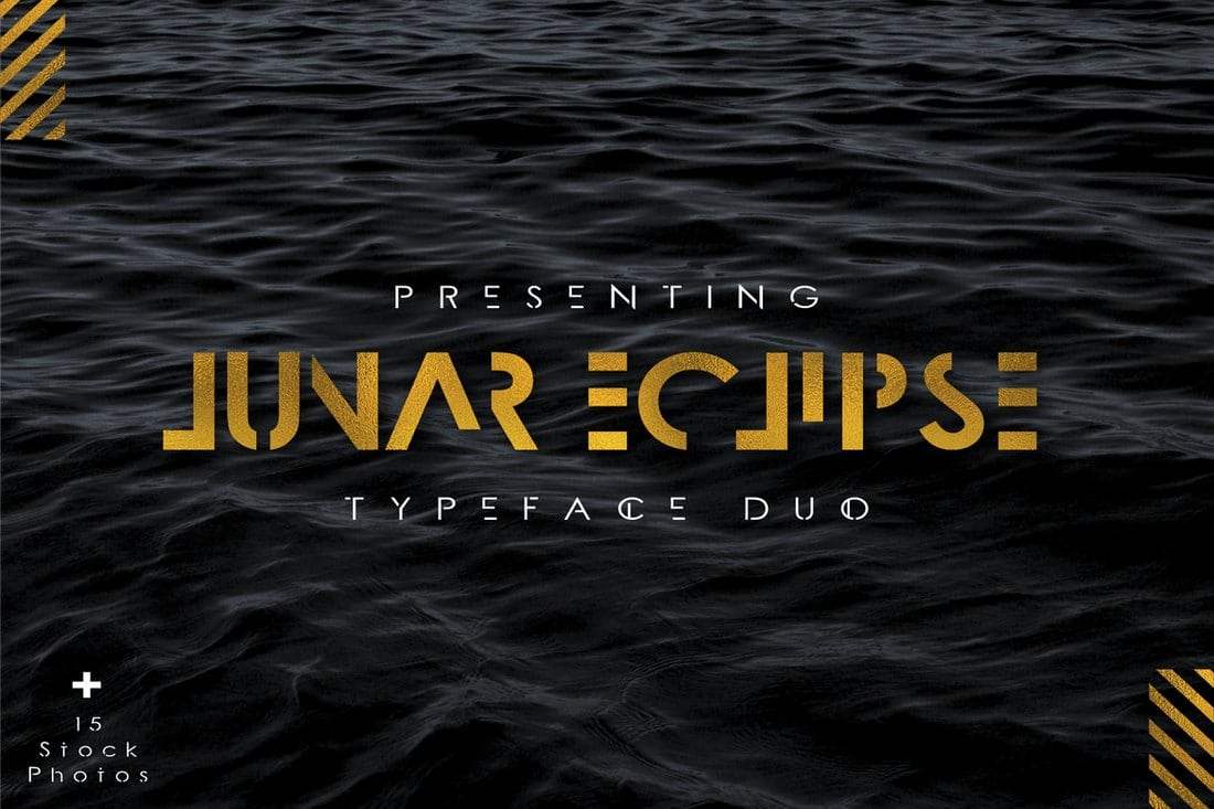 Lunar-Eclipse-Font-Duo 30+ Best Stencil Fonts design tips