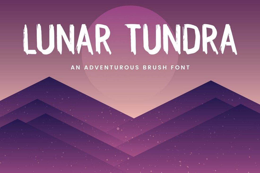 Lunar Tundra - Halloween Brush Font
