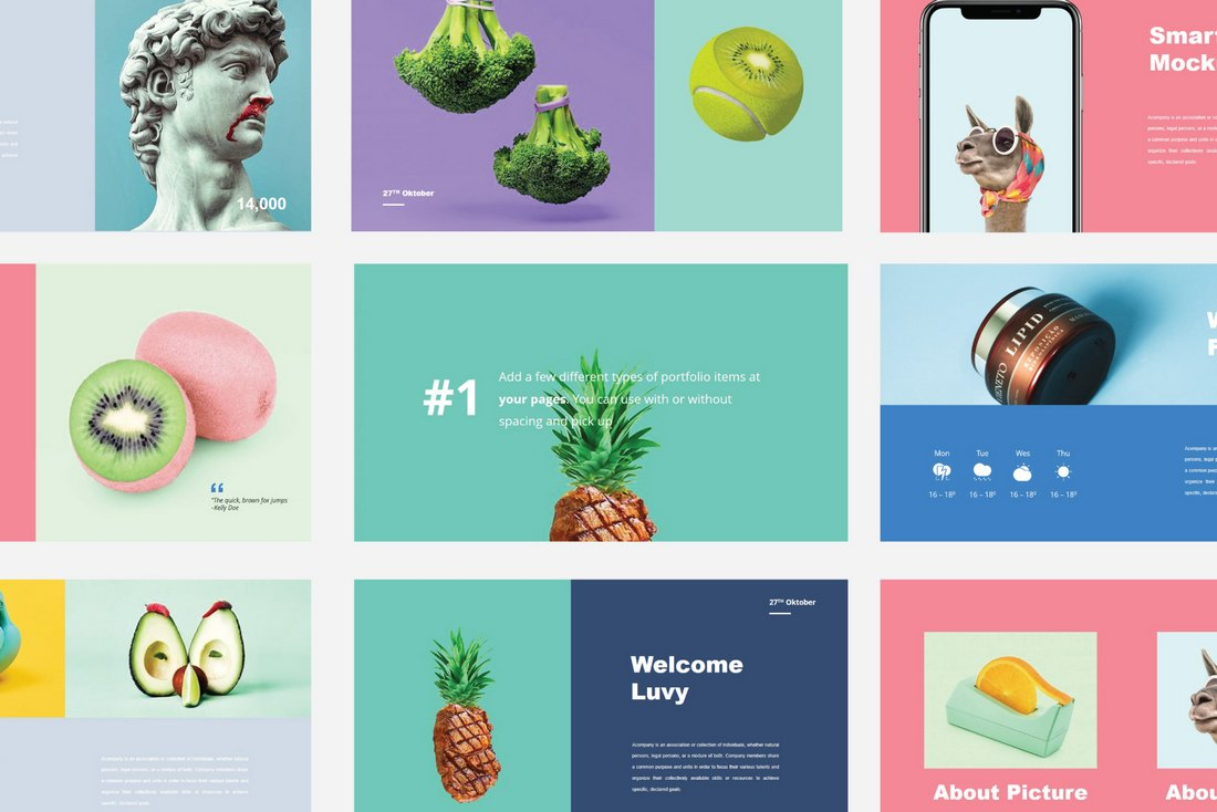 Luvy - Free B-Plan PowerPoint Template