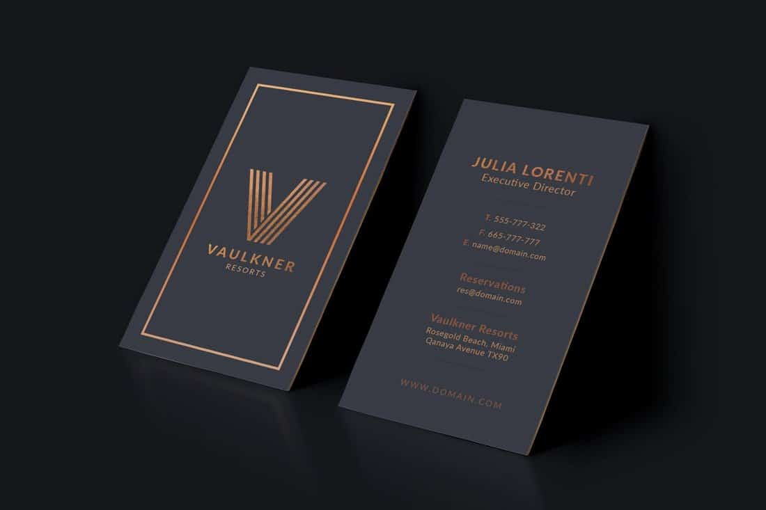 Luxury Brand Business Card Template