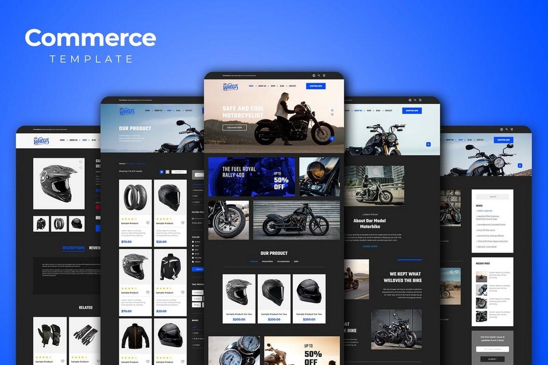 Luxury Brand Website Template Kit for Adobe XD