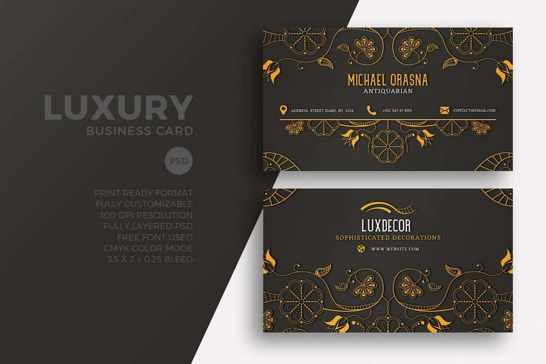 Luxury Business Card PSD