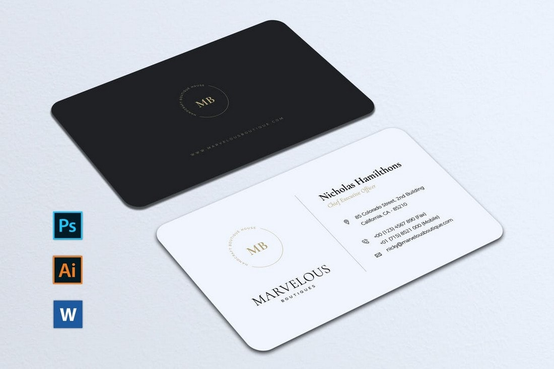 Luxury-Business-Card-Template 20+ Business Card Templates for Google Docs (Free & Premium) design tips