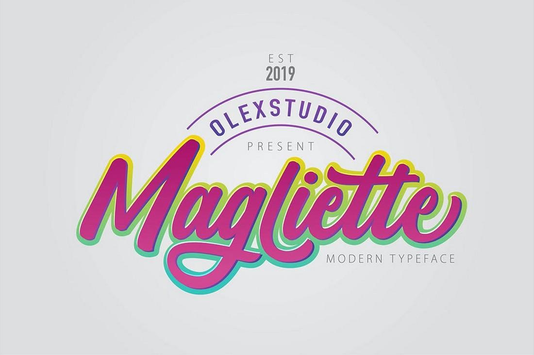 MAGLIETTE - Script Retro Font
