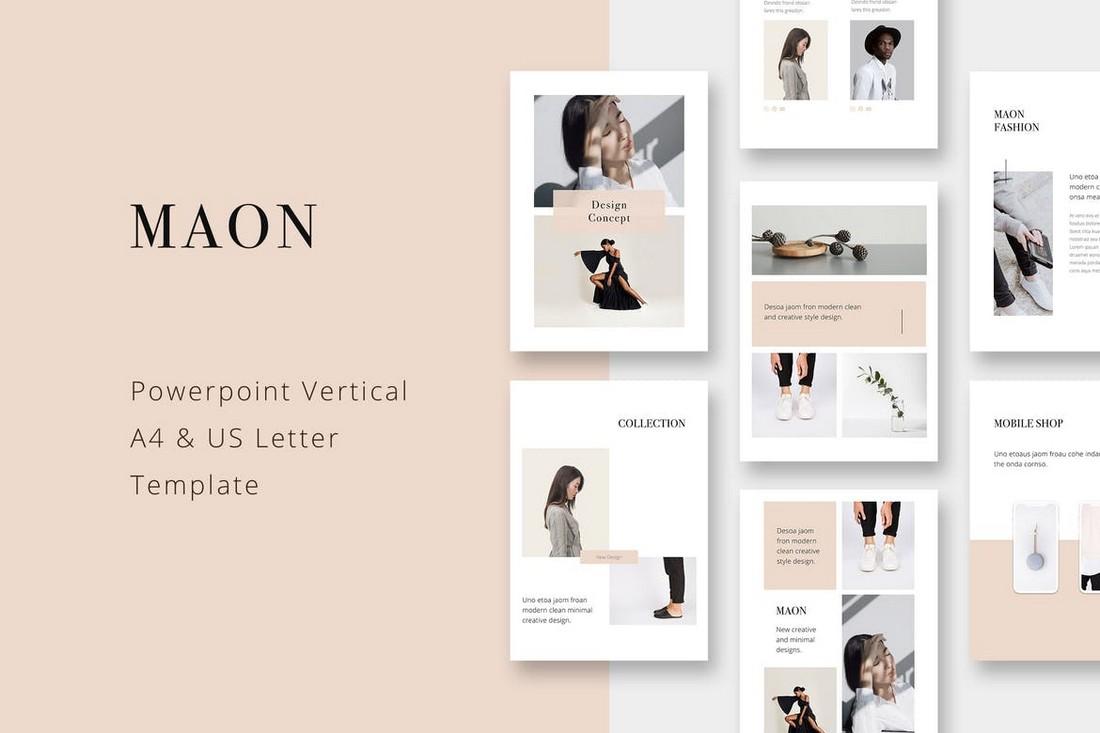 MAON - Vertical Powerpoint A4 template