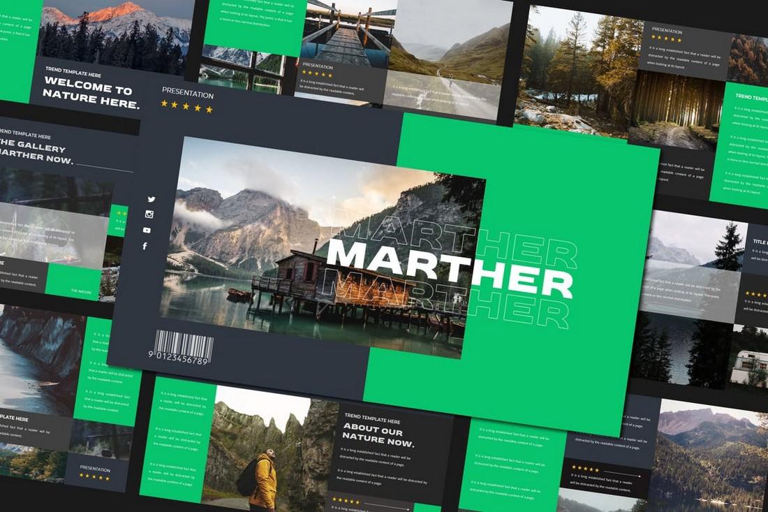 MARTHER - Modern Google Slides Template