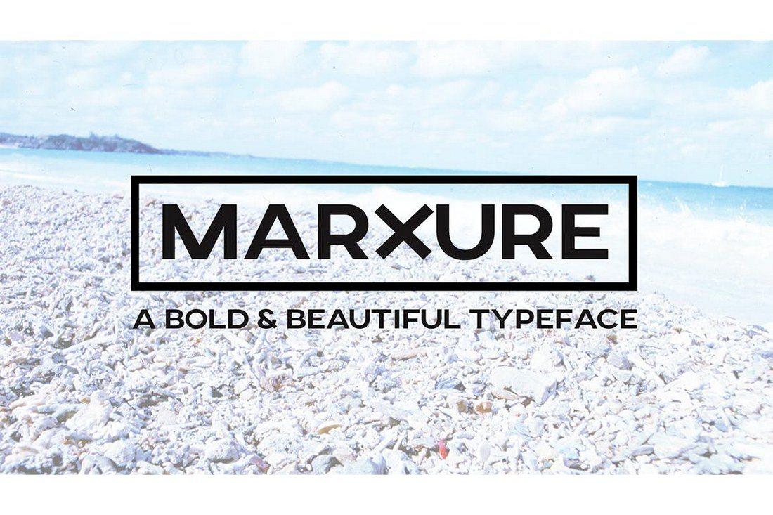 MARXURE-Bold-Headline-Typeface 30+ Best Modern & Futuristic Fonts 2021 design tips