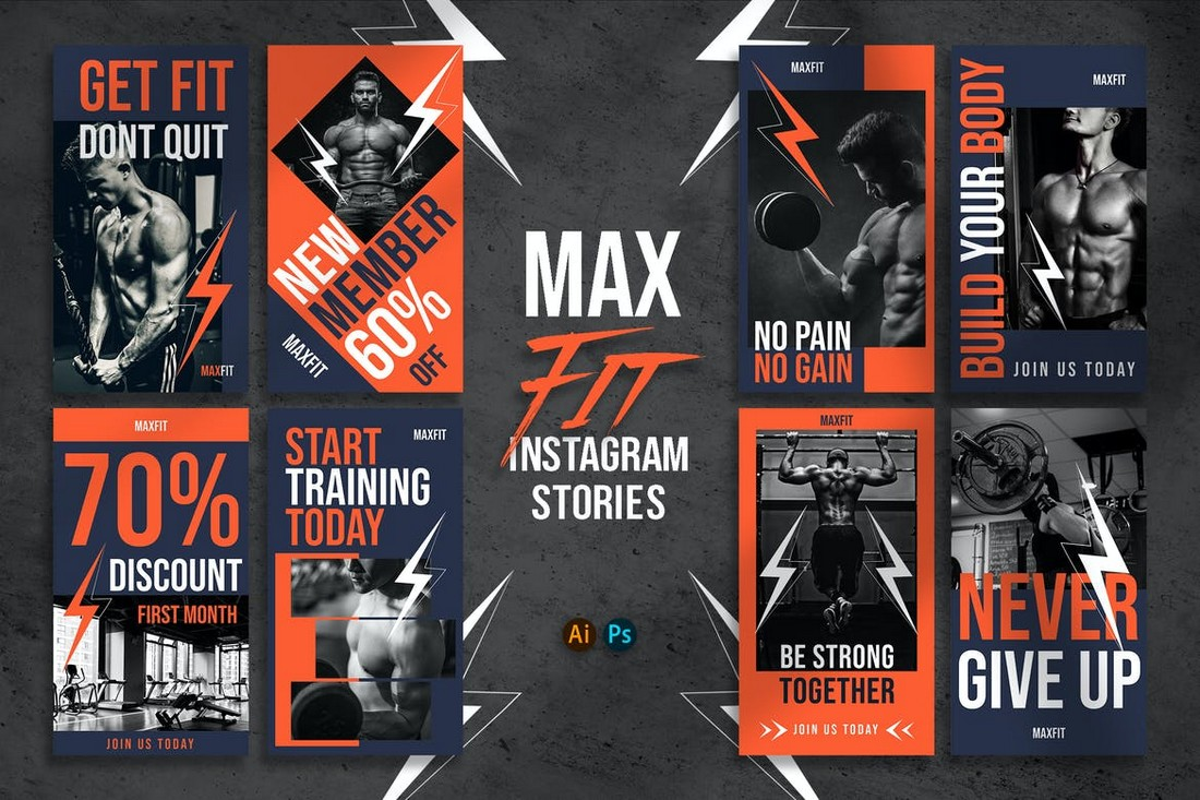 MAXFIT - Fitness Instragram Story Templates