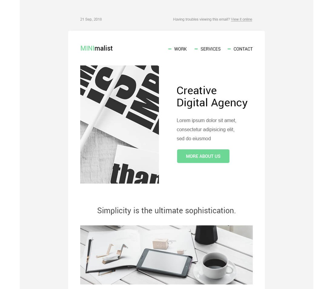 MINImalist-Free-HTML-Email-Template 40+ Modern Responsive Email Templates 2021 design tips