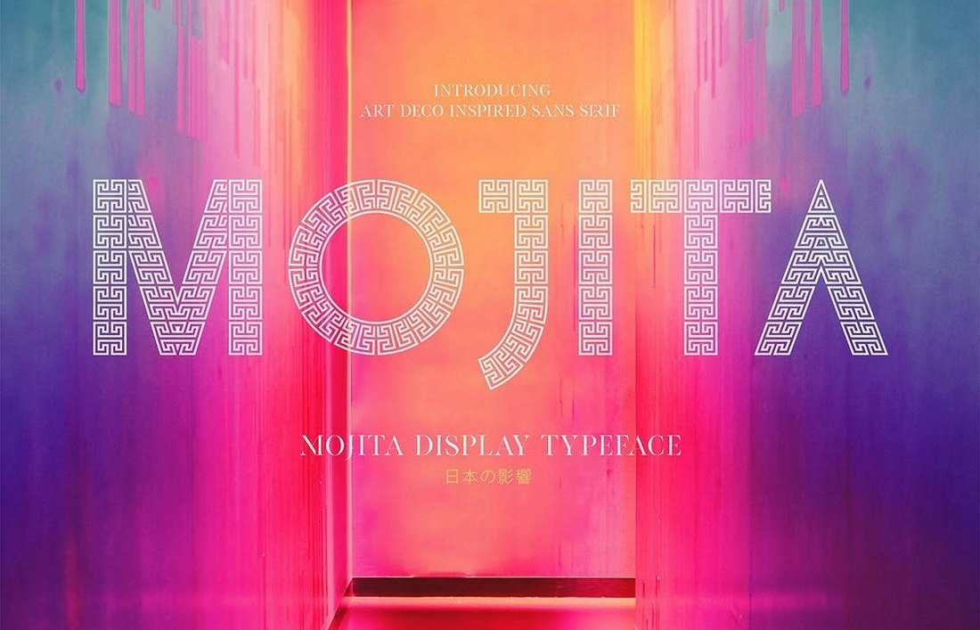 MOJITA - Modern Art Deco Font