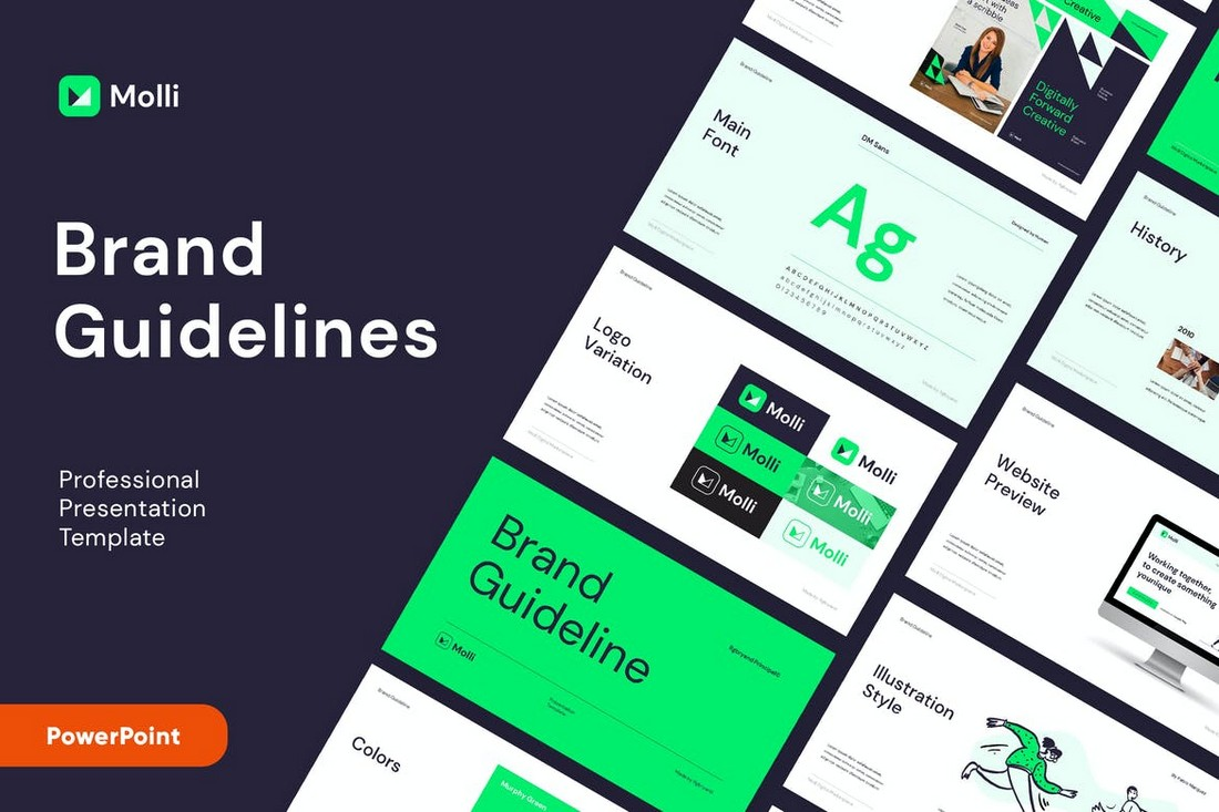 MOLLI - Brand Guidelines PowerPoint Template