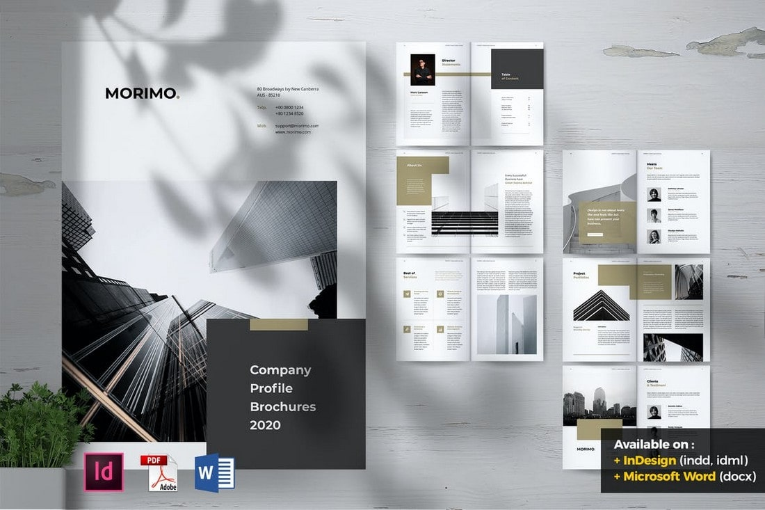 MORIMO - Creative Agency Word Brochure Template