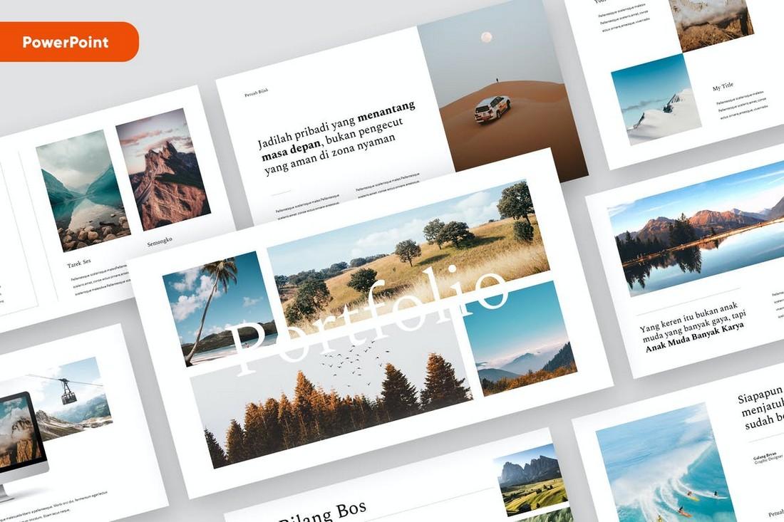 MOSOKSE - Minimal PowerPoint Portfolio Template