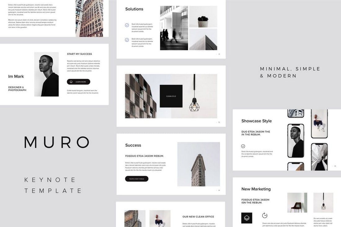 MURO-Keynote-Template 30+ Best Minimal & Creative Keynote Templates design tips