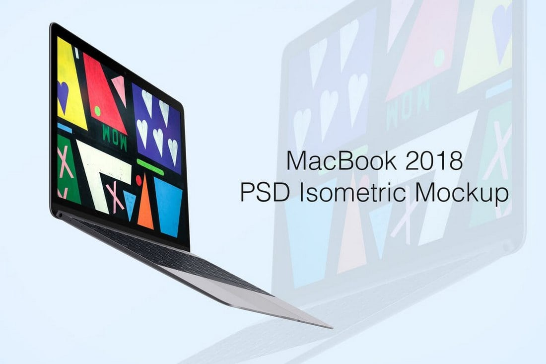 MacBook-2018-Isometric-PSD-Mockup 100+ MacBook Mockup Templates (PSD & Vector) design tips