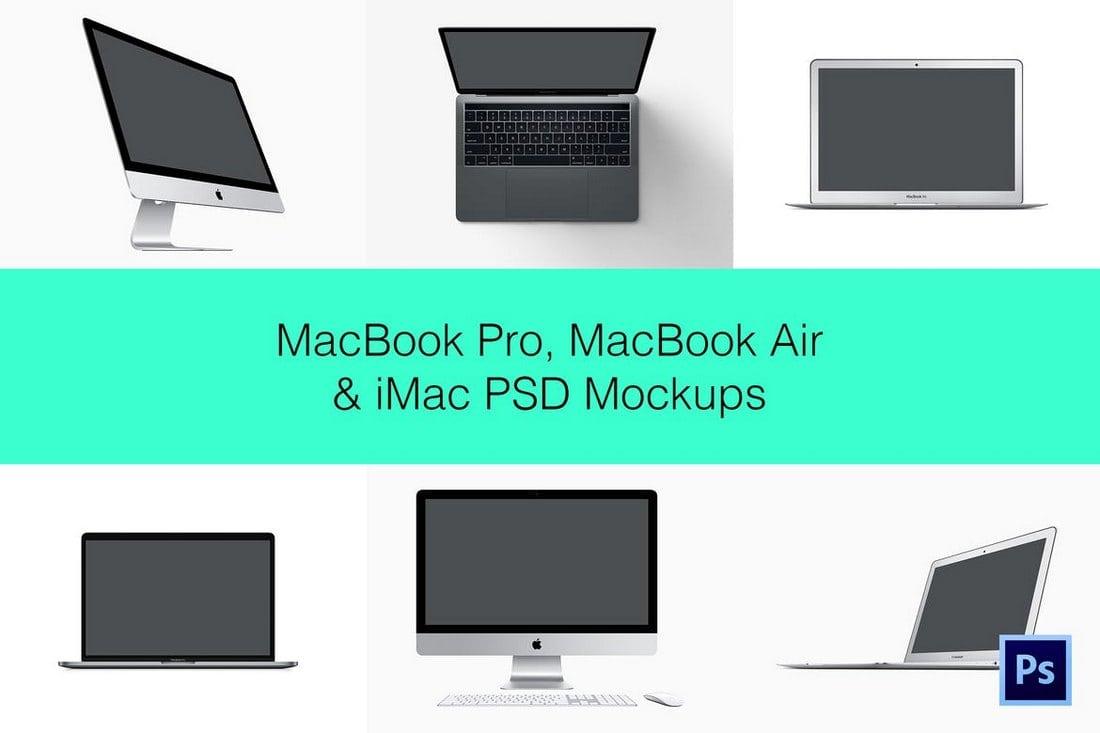 40+ iMac Mockup PSDs, Photos & Vectors | Design Shack