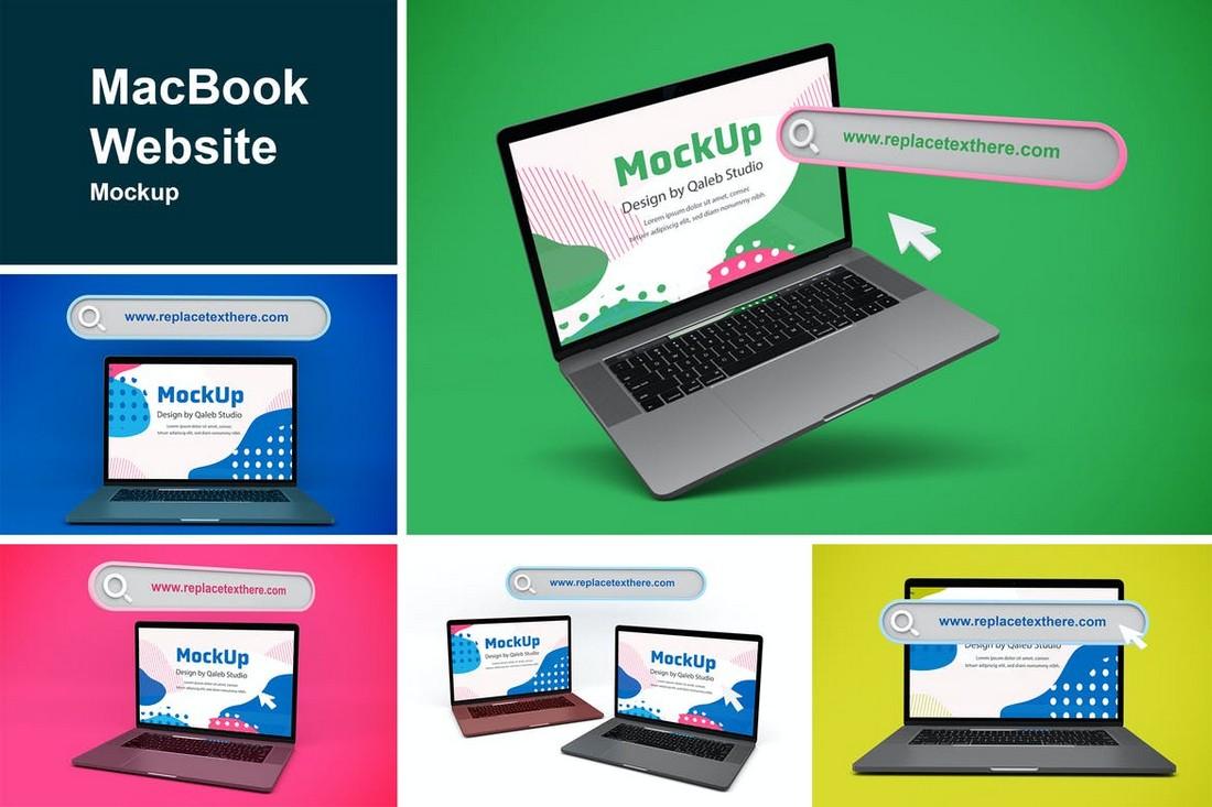 MacBook Website Mockup Templates