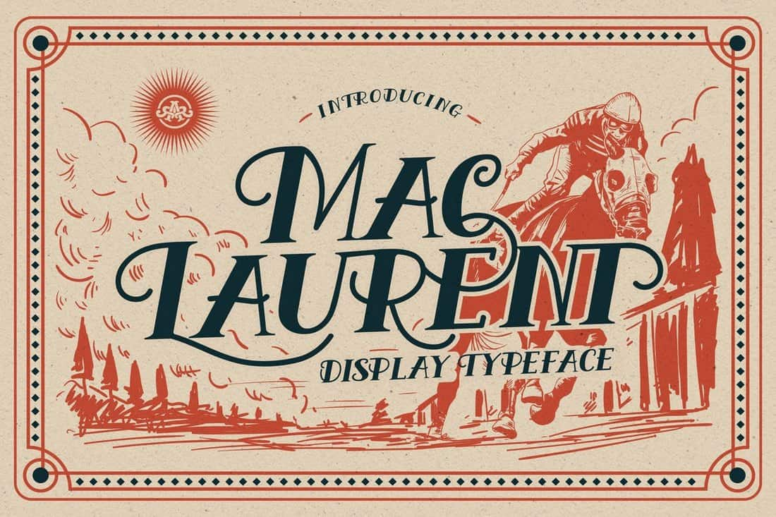 MacLaurent - Vintage Display Font
