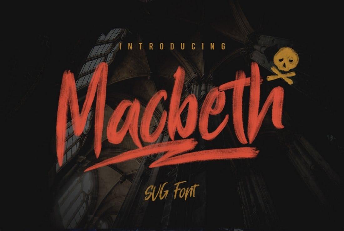 Macbeth-Free-SVG-Font 50+ Best Free Fonts for Designers 2018 (Serif, Script & Sans Serif) design tips