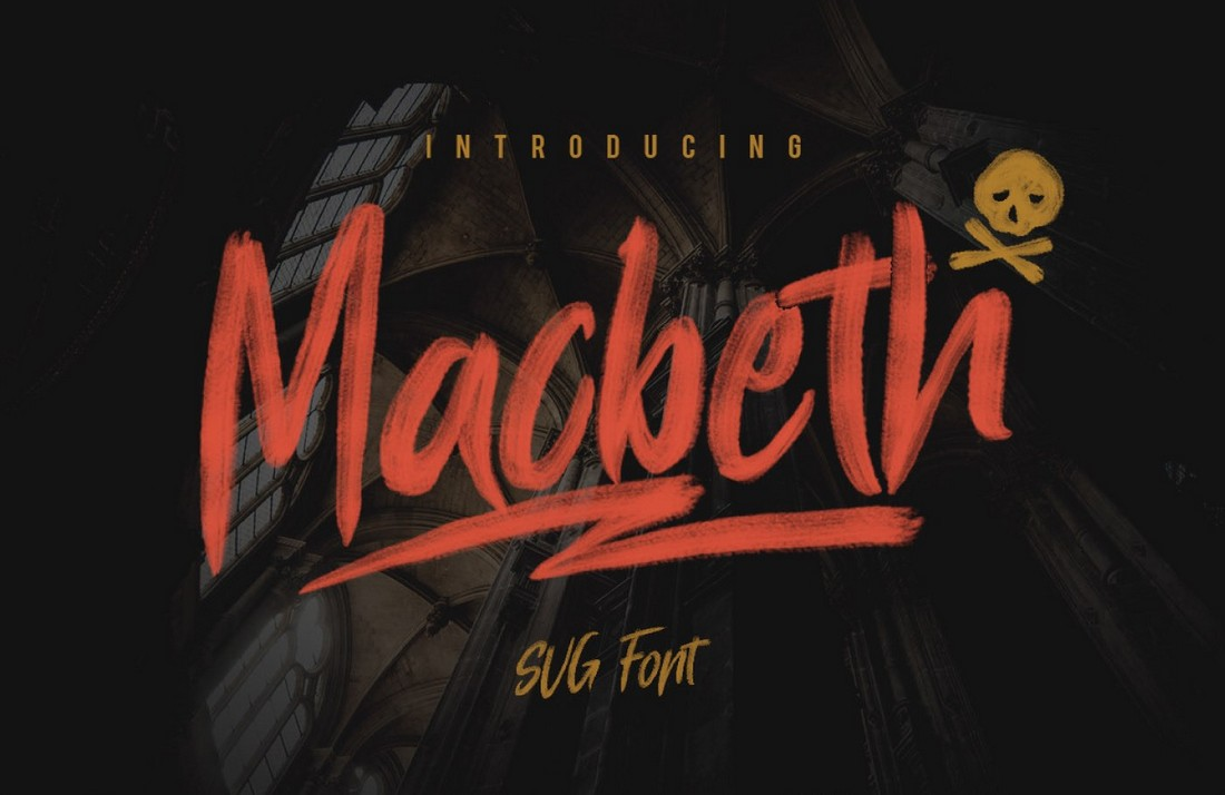 Macbeth-Free-Unique-Brush-Font 25+ Free Brush, Script & Hand Lettering Fonts design tips