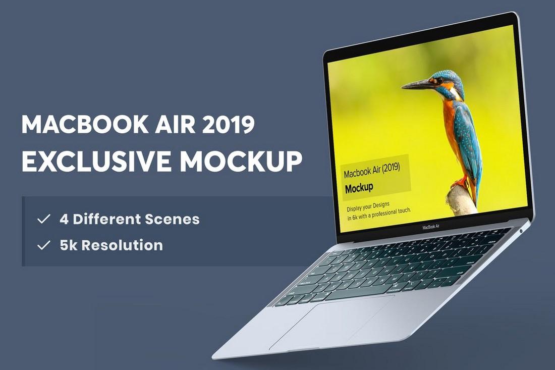 Macbook Air Mockup - 4 Scenes